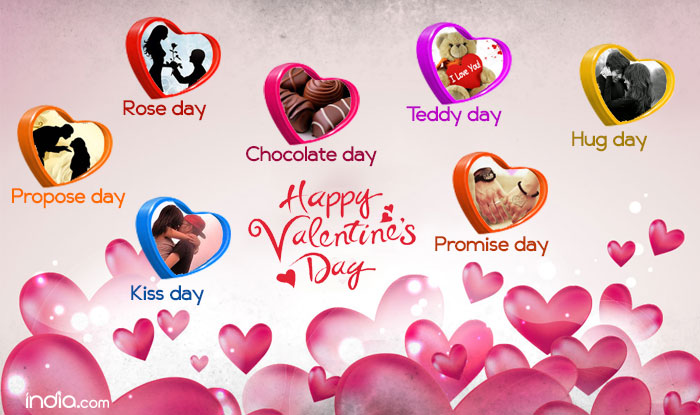 Valentine's Day, Valentine Week List, Rose Day, Propose Day, Chocolate Day, Teddy Day, Promise Day, Kiss Day, Hug Day