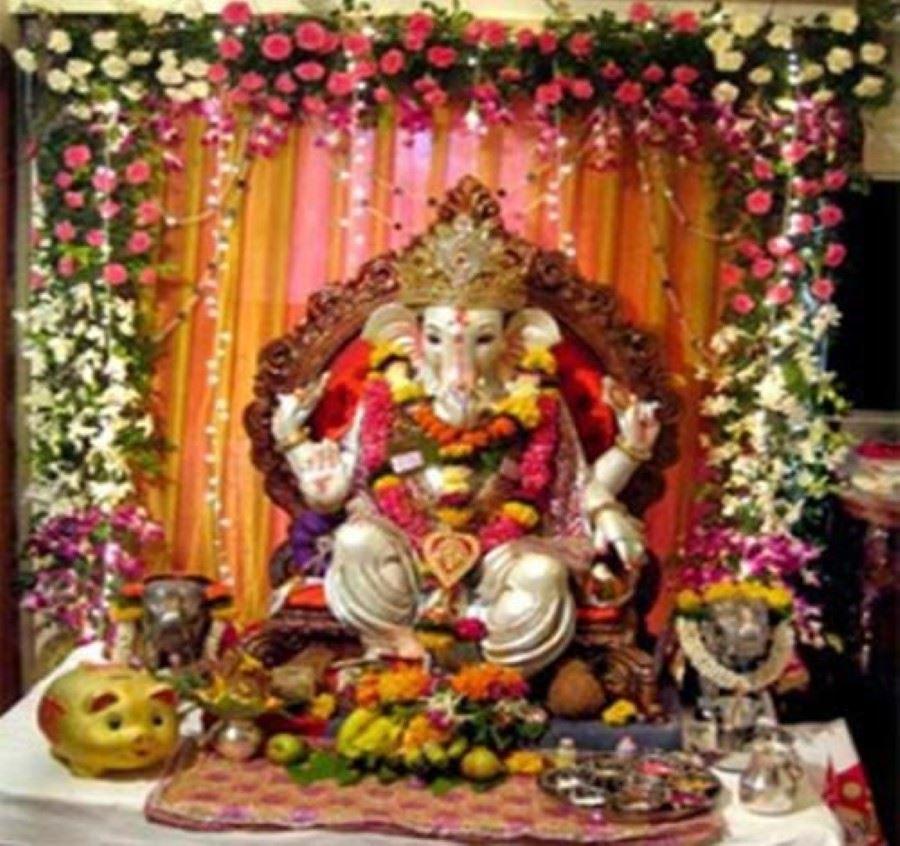 Pooja Decoration For Home, Ganpati Pooja, Durga Pooja